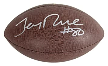 9f23ef107 Jerry Rice Signed Football - BAS Witnessed - Beckett Authentication -  Autographed Footballs