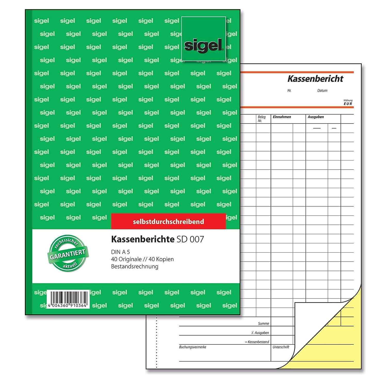 Kassenbuch einfach 110 Seiten DIN A5 einfaches Einnahmen-Ausgaben Buch im edlen