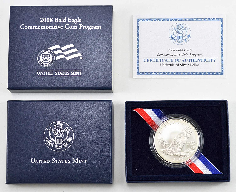 2008 Bald Eagle US Commemorative Coin Program Clad Half Dollar with OGP /& COA
