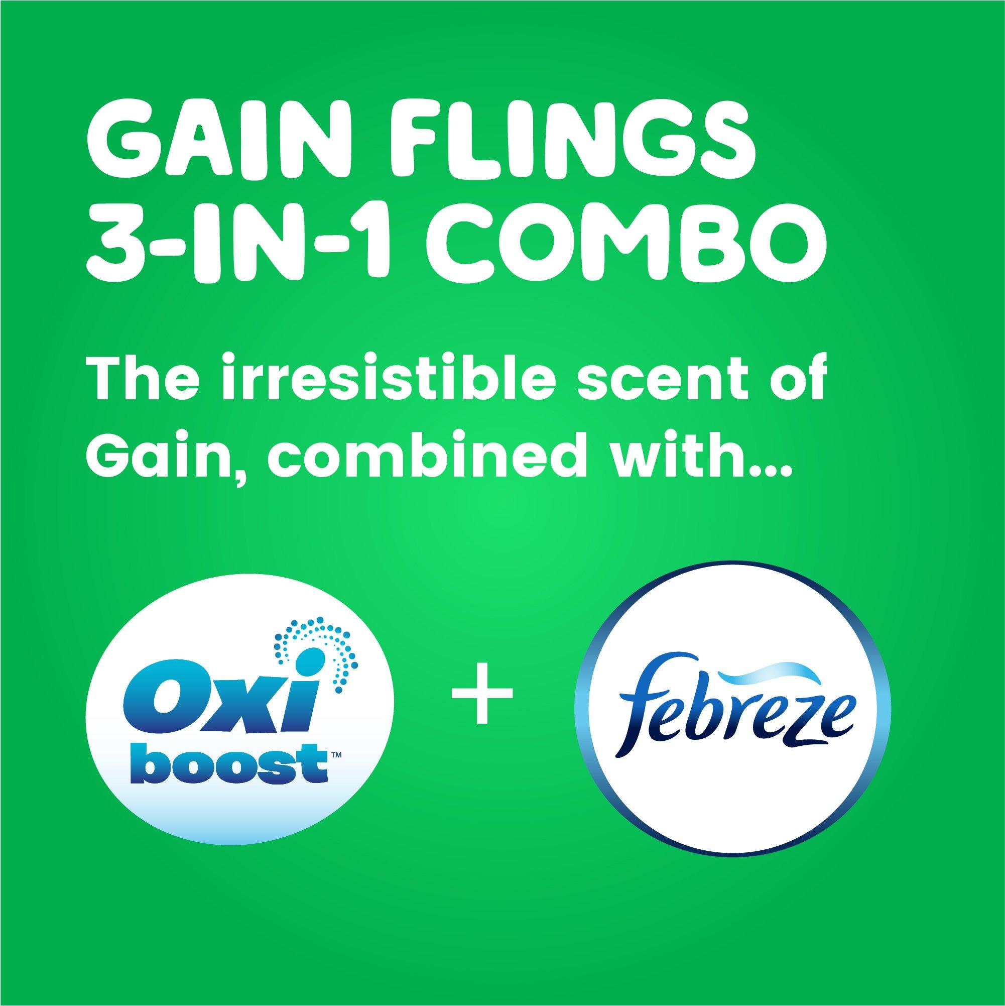 Gain flings! Liquid Laundry Detergent Pacs, Blissful Breeze, 96 Count by Gain (Image #3)