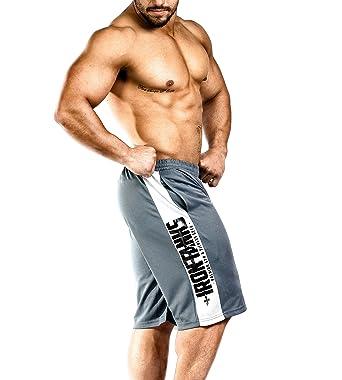 6e796c4a45f0c Amazon.com  Iron Tanks Iron Mesh Gym Shorts Grey Basketball ...