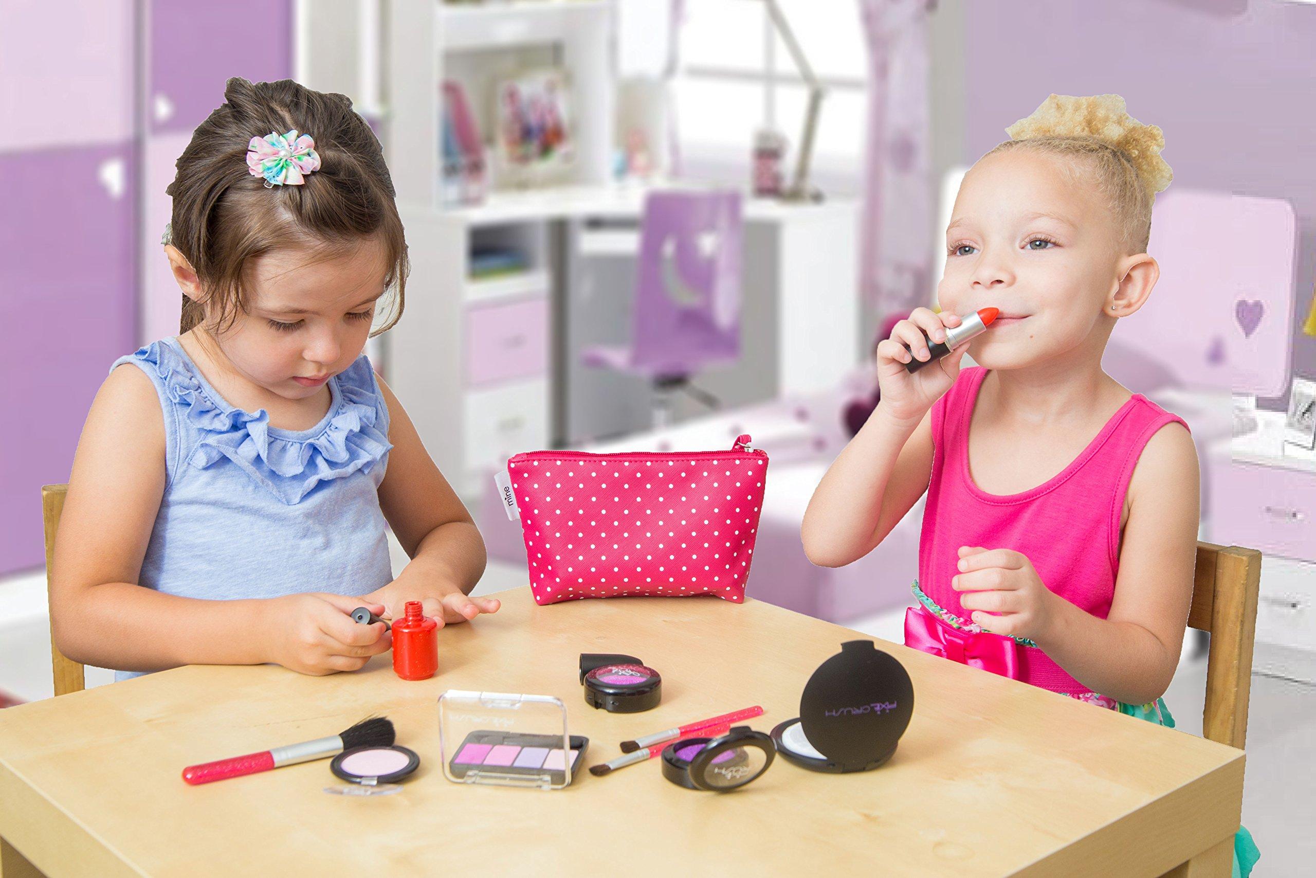 PixieCrush Pretend Play Cosmetic and Makeup Set. 13 Piece Designer Kit with Pink Polka Dot Handbag by PixieCrush (Image #3)