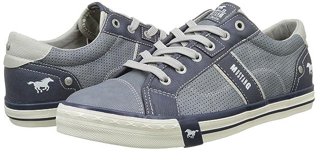Mustang 4072-301, Zapatillas Para Hombre, Azul (Sky), 43 EU: Amazon.es: Zapatos y complementos
