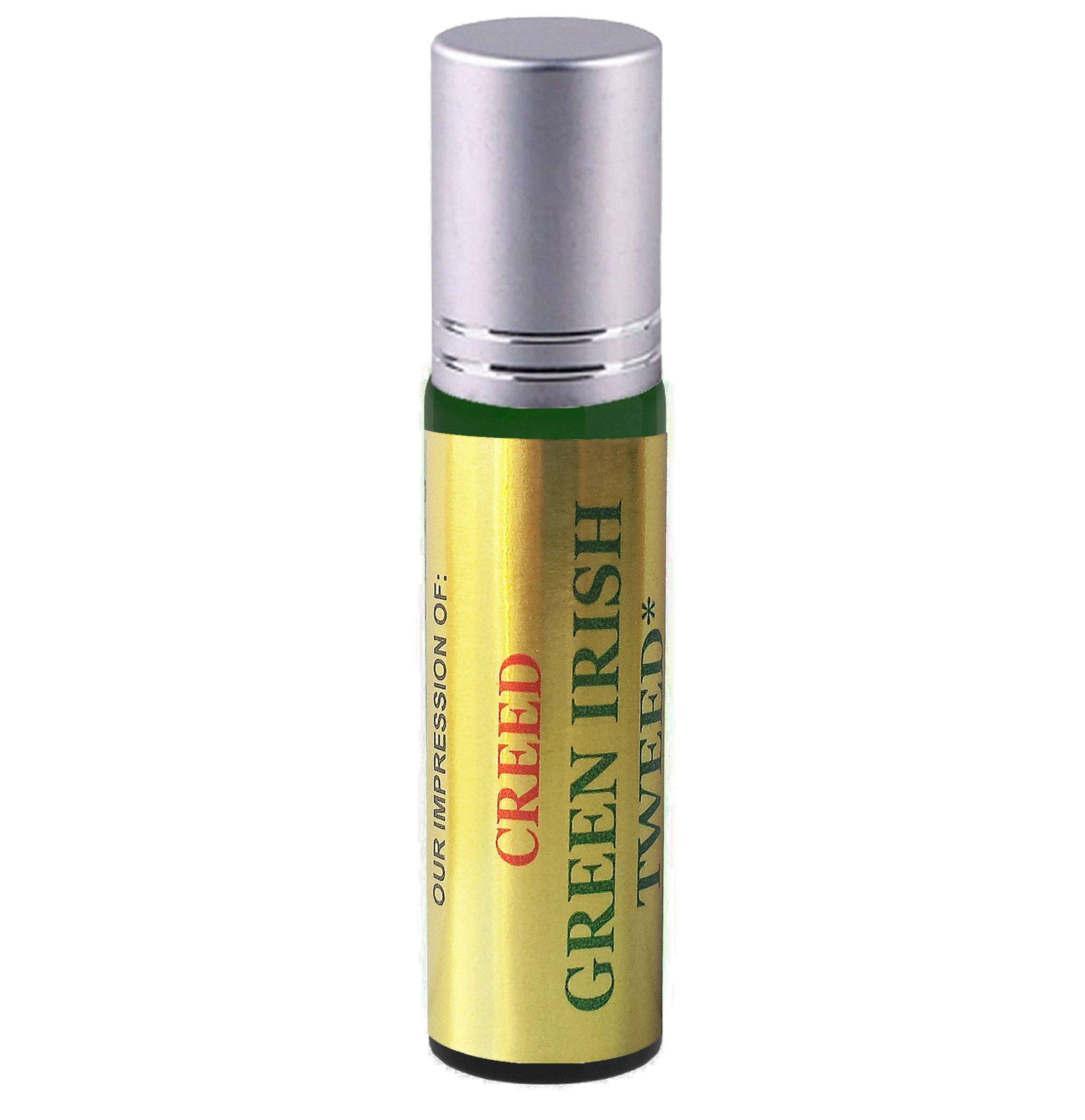 Premium Parfum Oil Blend Similar to Green Irish Tweed Perfume 100% Pure Perfume, Alcohol Free in a 10ml Green Glass Roller Bottle with Metal Ball, Silver Cap (Perfume Studio Oil Blend CF-103)