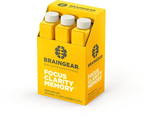 Amazon.com: BrainGear Liquid Brain Performance Drink   Supports Brain  Function, Focus, Memory U0026 Clarity   Pineapple Mango Flavor   Pack Of 3:  Health ...