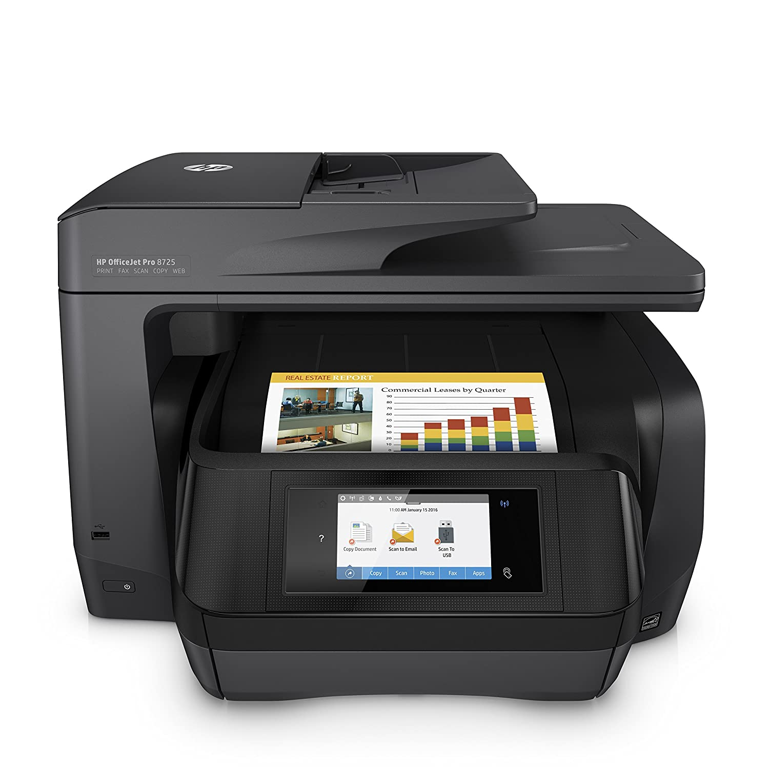 HP OfficeJet Pro 8715 Stampante All-in-One, Tecnologia Inkjet Termica, A4