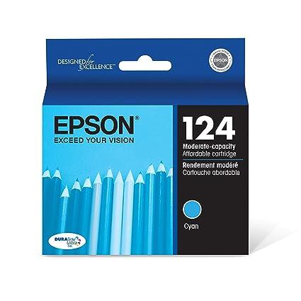 Epson T124220 - Cartucho de tinta para impresoras (Cian, Estándar ...
