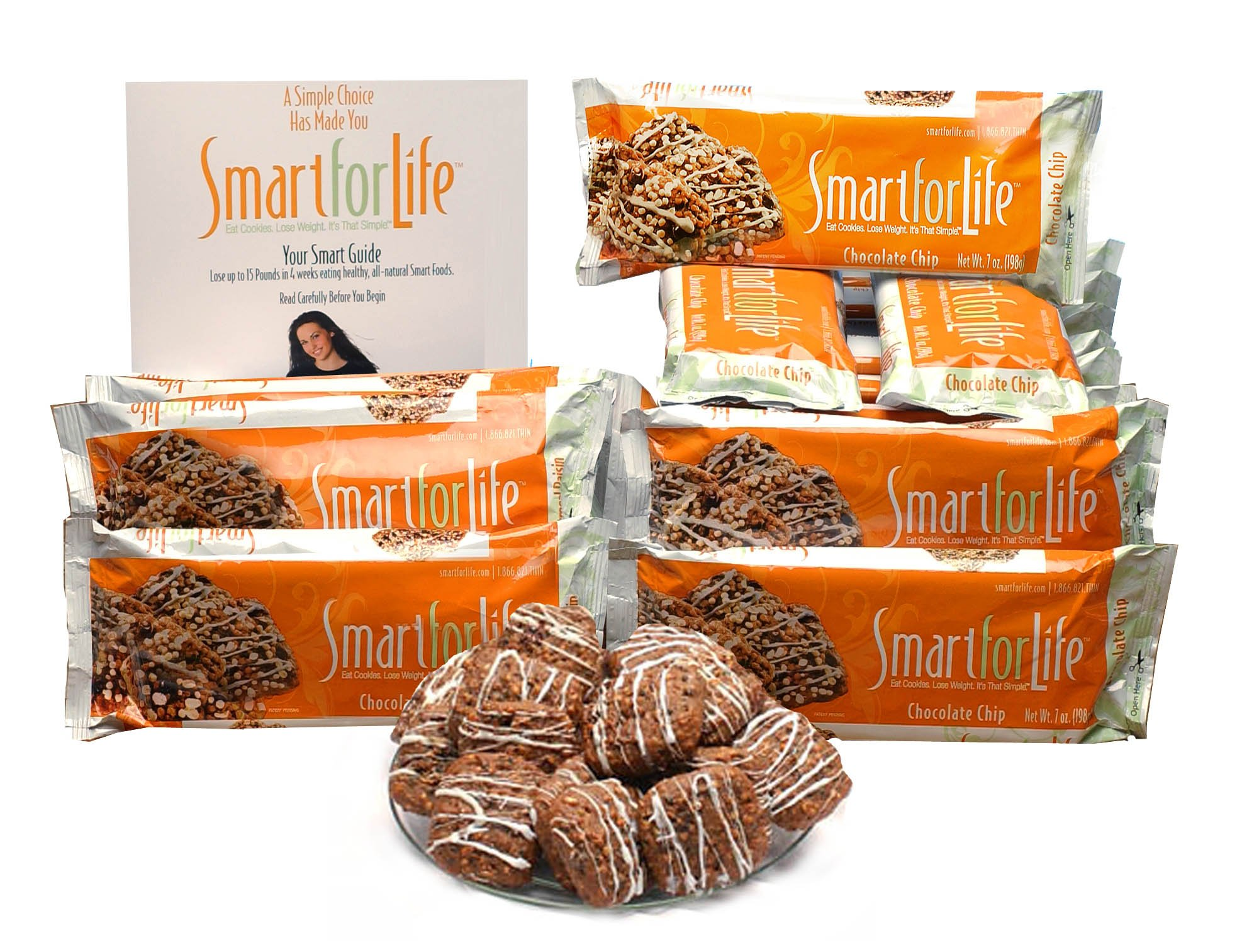 Smart for Life Chocolate Chip Diet Cookies, 14 day Meal Replacement - Pack of 14, (84 ct)