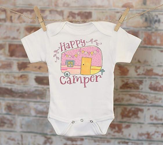2f5dc50a1a45 Amazon.com  Happy Camper Trailer Onesie®