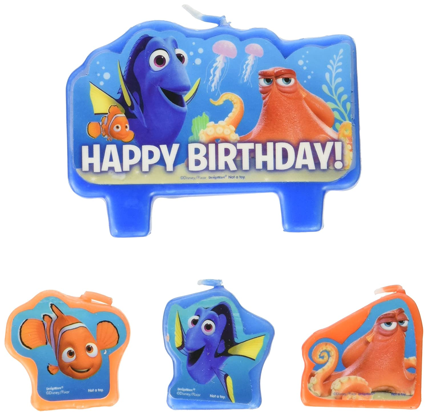 Amazon.com: Finding Dory Party Supplies - Birthday Candle Set: Toys ...