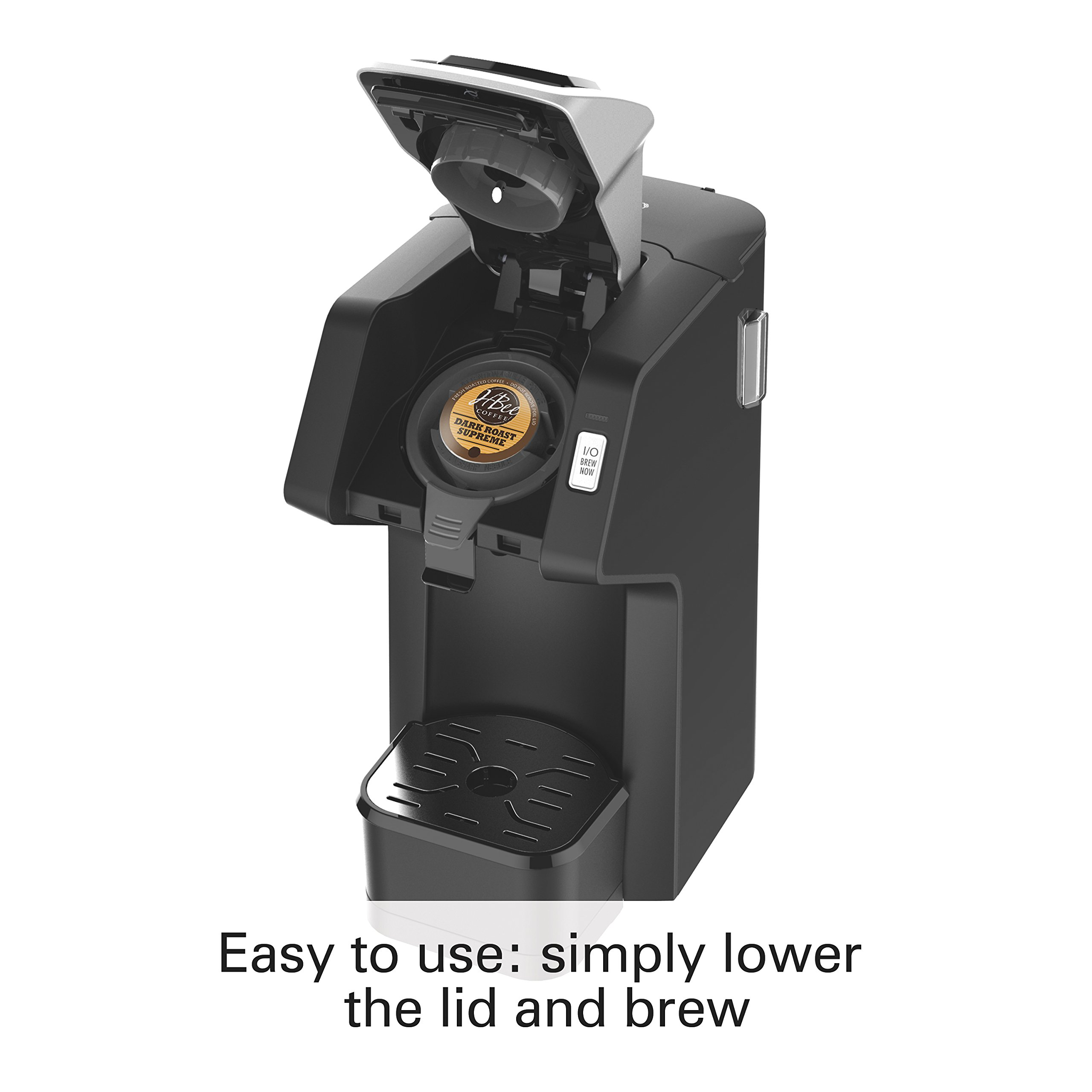 Hamilton Beach (49974) Single Serve Coffee Maker,Compatible withK-Cup Packs and Ground Coffee, Flexbrew, Black by Hamilton Beach (Image #3)