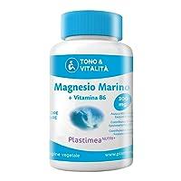 Magnesio Marino e Vitamina B6 • 300 mg al giorno • Combatte FATICA e STRESS • 120 capsule di origine vegetale • Registrato Presso il MINISTERO DELLA SALUTE ITALIANO