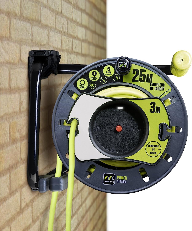 Enrouleur /électrique 4 prises 20 m/ètres NF c/âble H05VV-F 3G1.5