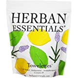 Herban Essentials Mixed Bag (Lemon, Lavender and Peppermint Essential Oil Towelettes) - 20 Count