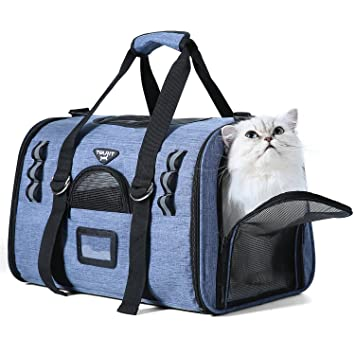 Amazon Com Tourit Soft Sided Cat Carriers For Medium Cats Sturdy