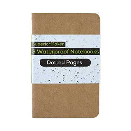 Amazon Com Waterproof Field Notebook With Dotted Grid Paper No