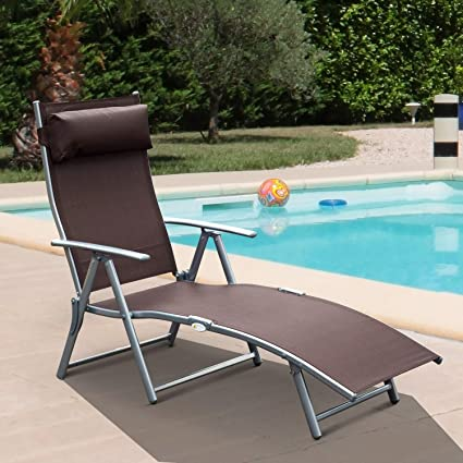 Amazon.com: Patio Daybed Sólido al aire libre plegable tela ...