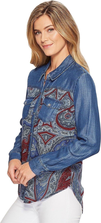 Tribal Womens Long Sleeve Shirt with Print Combo
