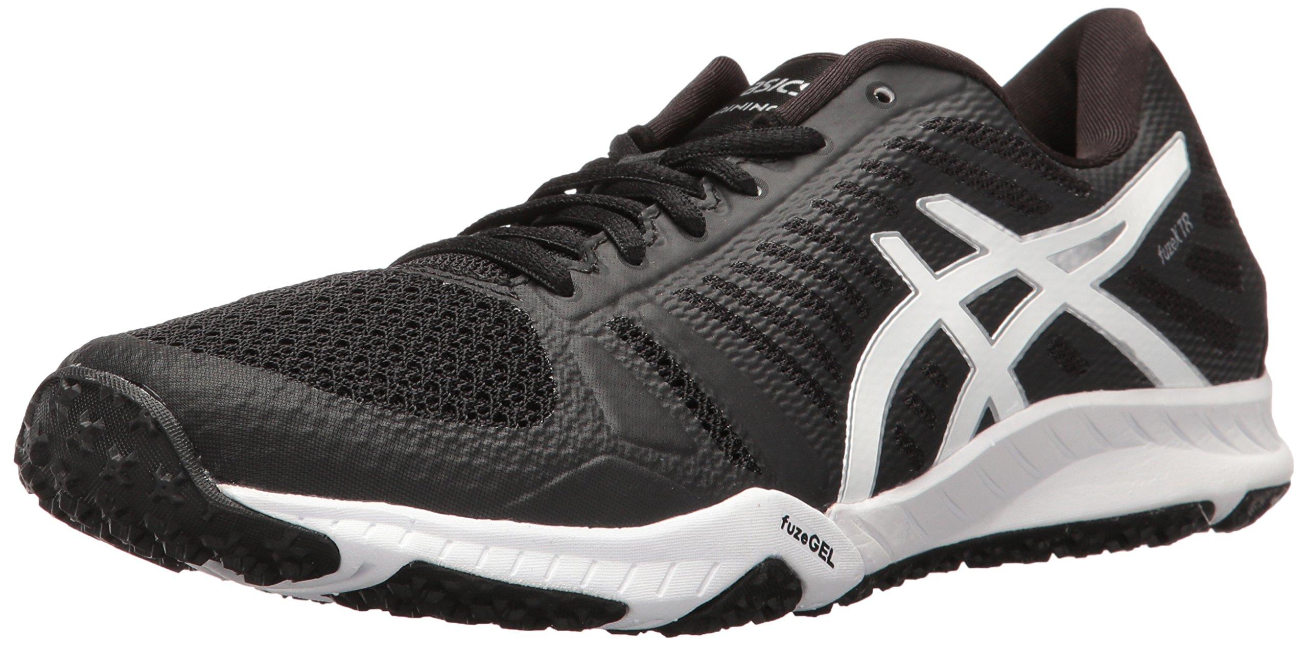 ASICS Women's Fuzex TR Cross-Trainer Shoe, Black/White/Silver, 10 M US