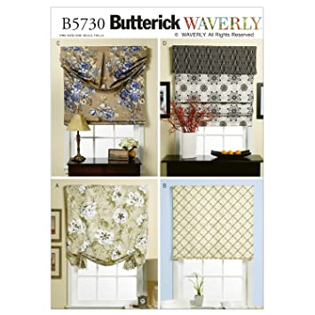 Amazon.com: Butterick Patterns B5730 Window Shade and Valance, One ...