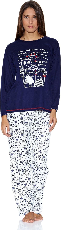KUMY Pijama Gatitos Azul Marino S: Amazon.es: Ropa