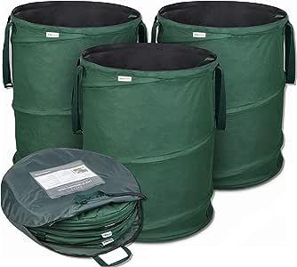 Bolsas de jardín emergentes de GloryTec 3 x 170 litros | Bolsas de residuos de jardín estables hechas del robusto poliéster Oxford 600D | Bolsas de jardín Premium estables y plegables: Amazon.es: Jardín