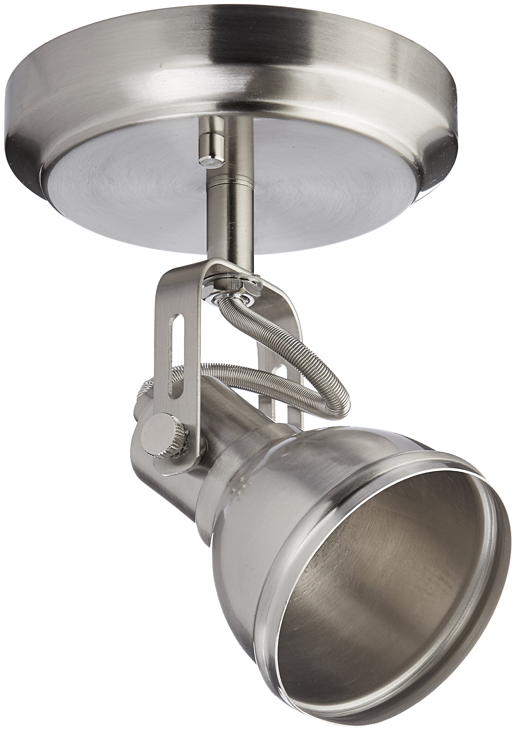 CANARM ICW622A01BN10 LTD Polo 1 Light Ceiling/Wall, Brushed Nickel with Adjustable Head by Canarm (Image #1)