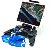 Fstop Labs [2018 Edition] DJI Mavic Air Pro Platinum, Spark Accessories, Remote Controller Device Holder, Foldable 4-10 Inch Phone Tablet Extended Mount + Neck Strap