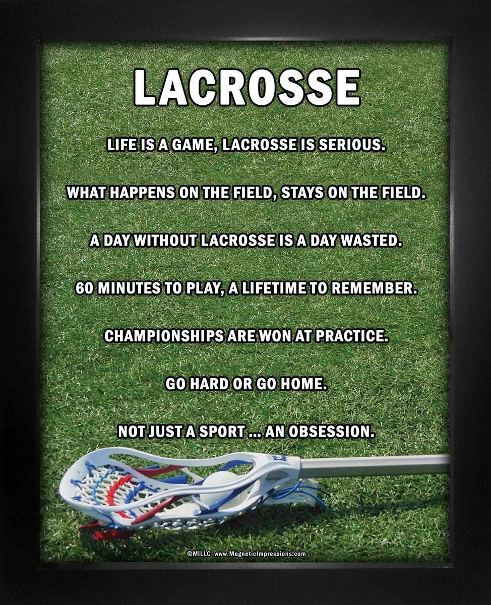 "Framed Lacrosse Male Stick 8"" x 10"" Sport Poster Print"