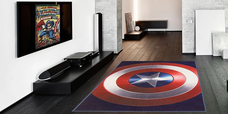 Avengers Captain America Star Round Floor Rug Bath Bedroom Mat Living Door Mats//