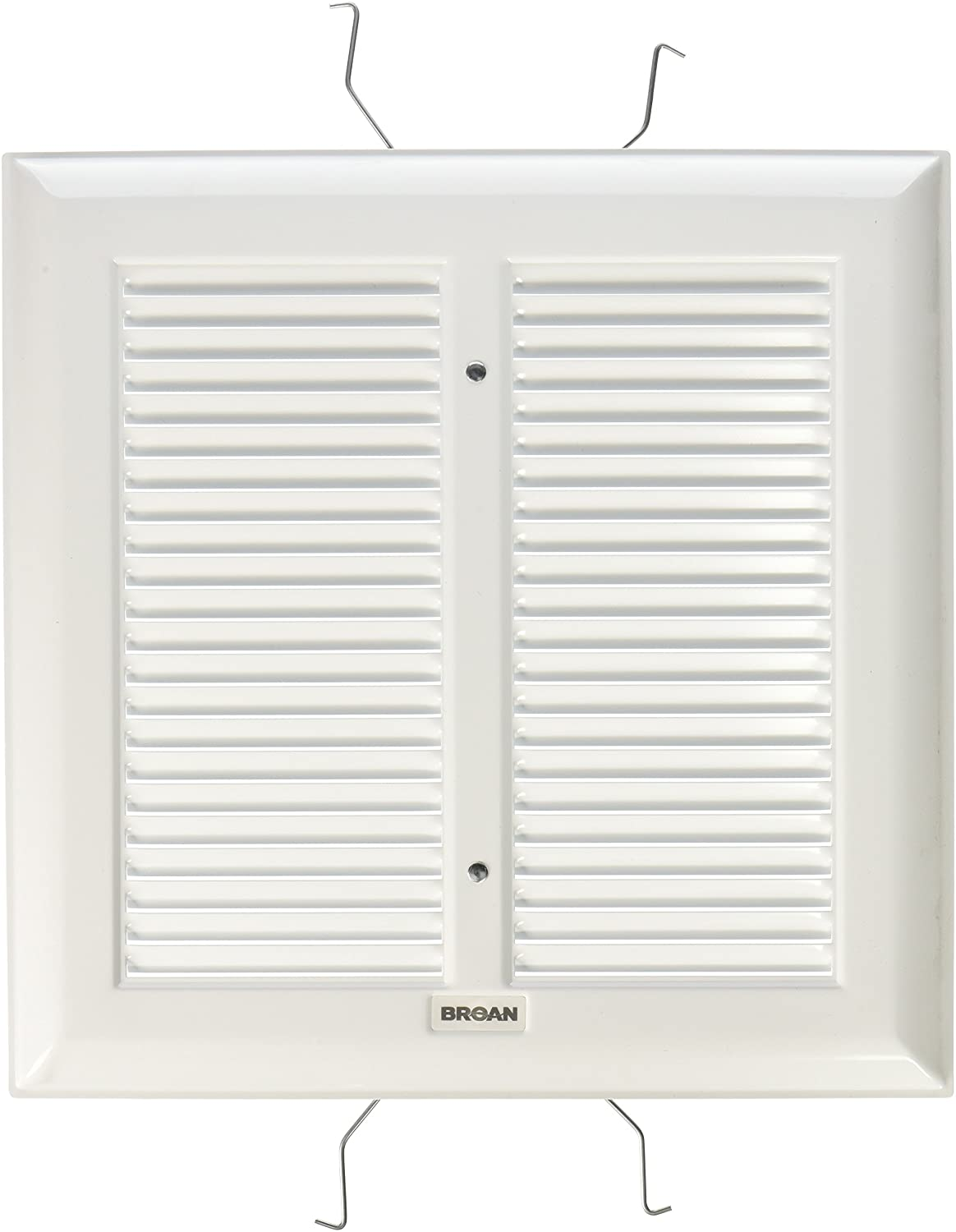 Broan S97011308Spring Mounted Bathroom Fan Cover/Grille Assembly, White