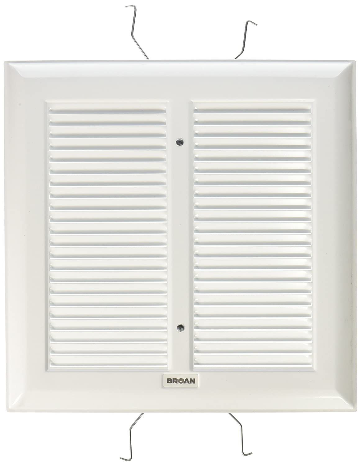 amazoncom broan s97011308 spring mounted bathroom fan covergrille assembly white home kitchen - Broan Bathroom Fan Cover
