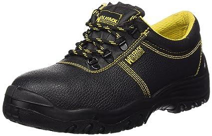 Wolfpack 15018130 Zapatos de Seguridad de Piel, Talla 42, Color Negro