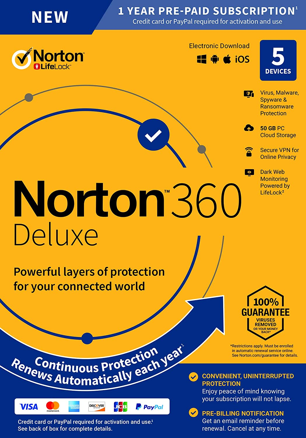 2020 Newest Norton 360 Deluxe – Antivirus Software Key Card for 5 Device with Auto Renewal - Includes VPN, PC Cloud Backup and Dark Web Monitoring powered by LifeLock 81gj4ZvrHdL