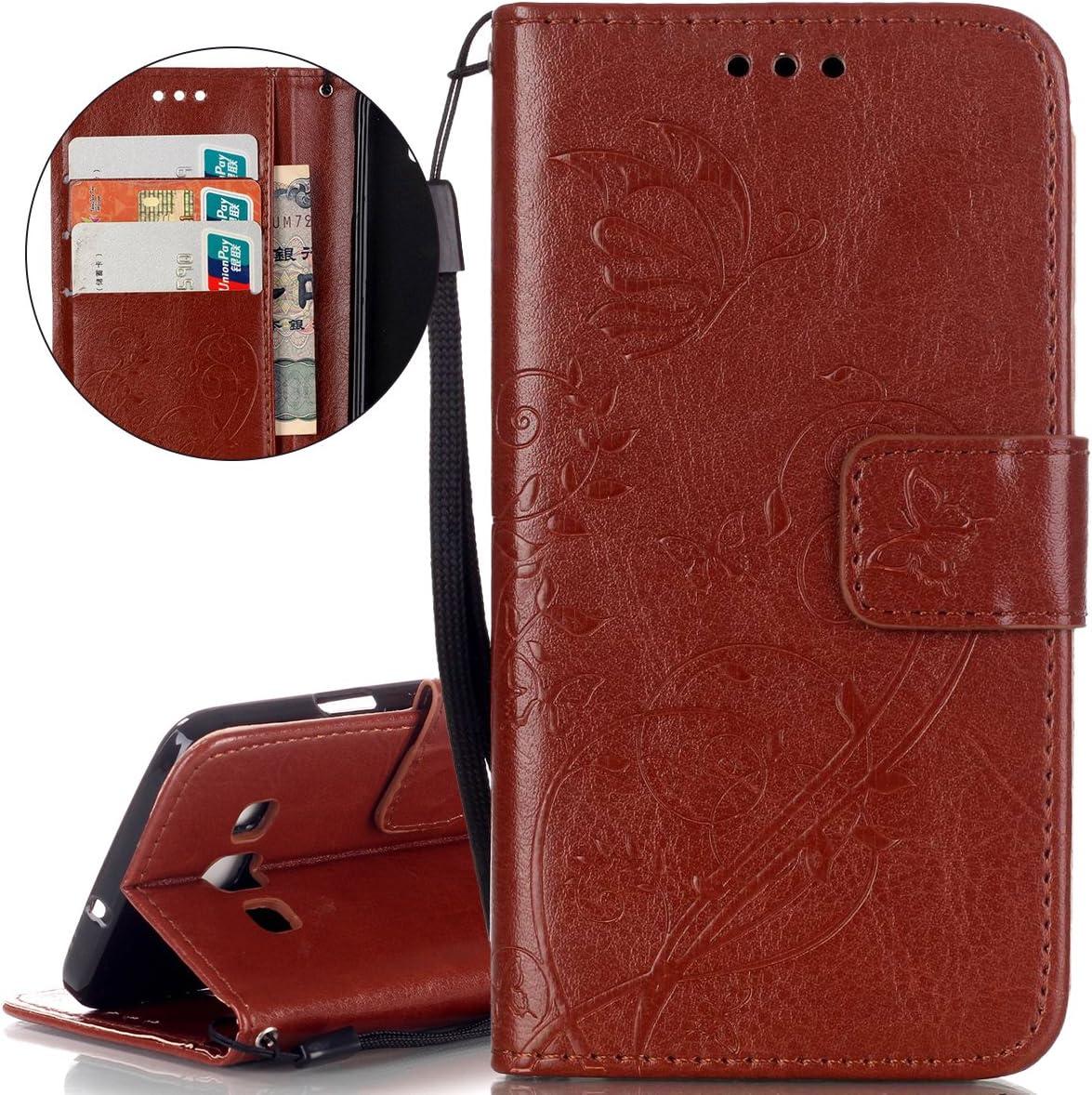 ISAKEN Cover Compatibile con Samsung Galaxy A3 2015 Custodia in Pelle PU Libro Portafoglio Cover Wallet Flip Caso con Strap//Supporto di Stand//Carte Slot//Chiusura Magnetica Occhi
