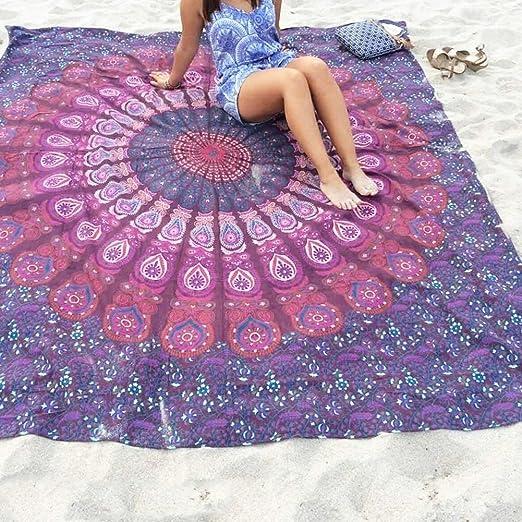 4 opinioni per Telo Mare Mandala, chiffon Beach Piazza indiano Gettare Hanging Tapestry Coperte