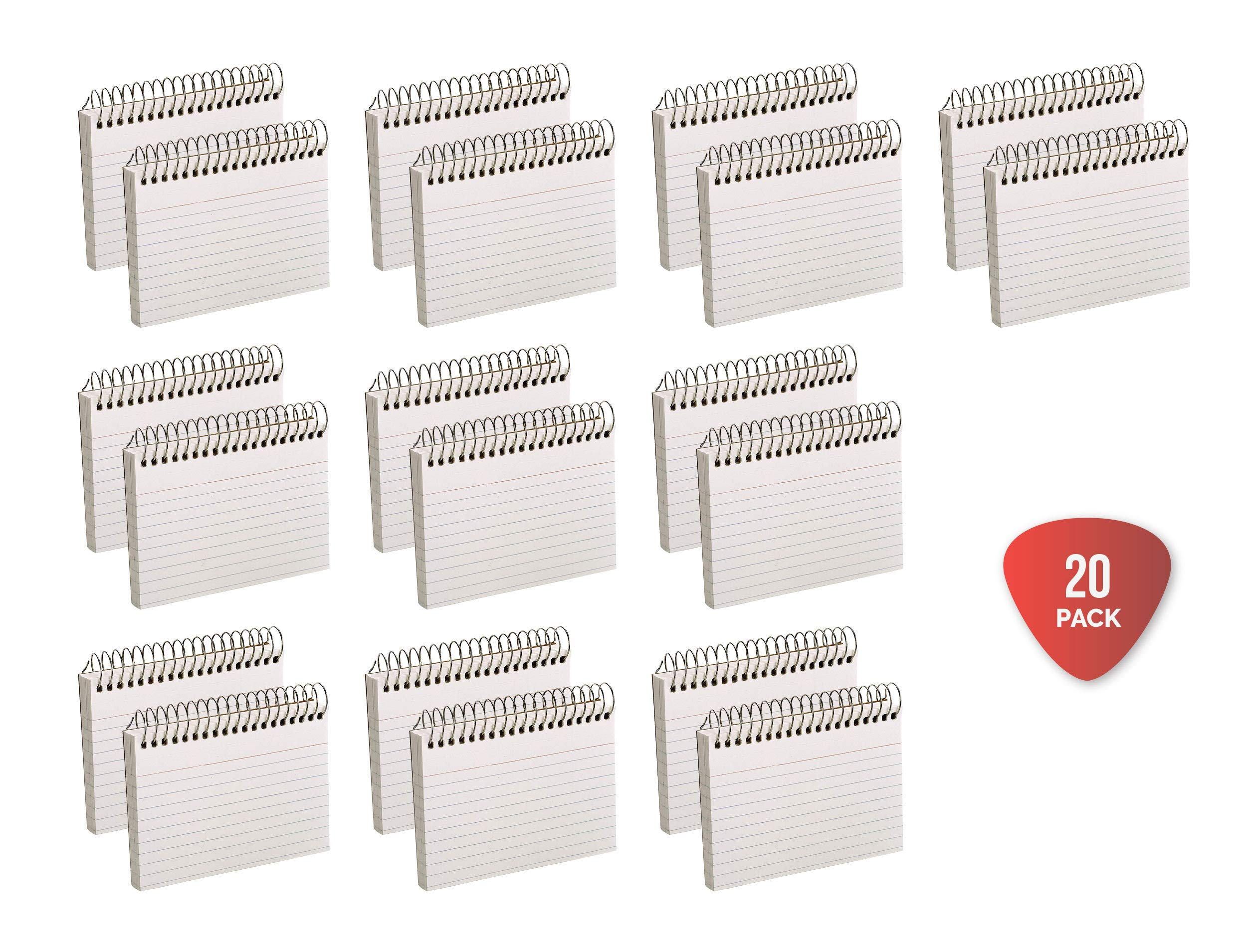 Oxford Spiral Ruled Index Cards, 3 x 5 Inches, White, 50 per Pack (40282), Pack of 20 by Oxford