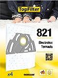 TopFilter 821, 4 sacs aspirateur pour Electrolux et Tornado boîte de sacs d'aspiration en non-tissé, 4 sacs à poussière (30 x 26 x 0,1 cm)