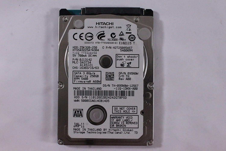 "Dell 95N9W HTS543225A7A384 2.5"" SATA Thin 250GB 5400 Hitachi Laptop Hard Drive Latitude E6420"