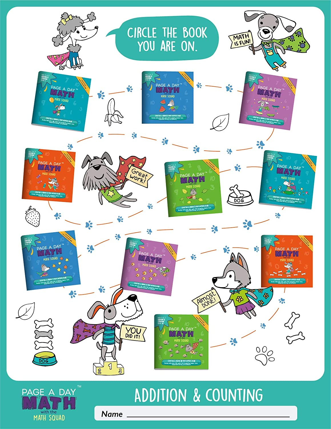 Deluxe Addition Learning System Adding 0-10 320 Total Pages Certificates 6 Months of Practice! Achievement Stars 3,500 Problems 10-Books Grades K-2 Penmanship