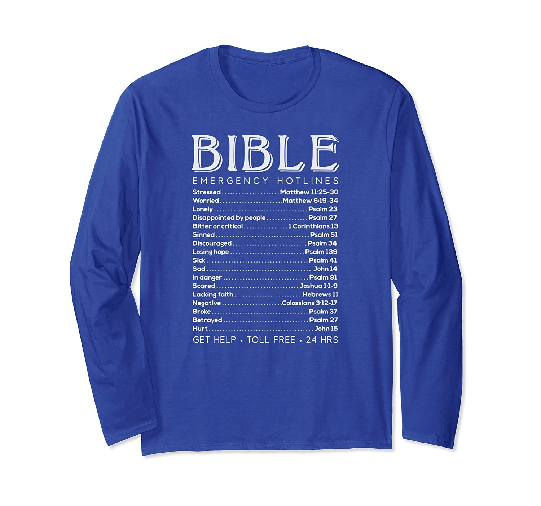 Bible Emergency Hotline Numbers Christian Cool Tee Shirt-ah my shirt one gift
