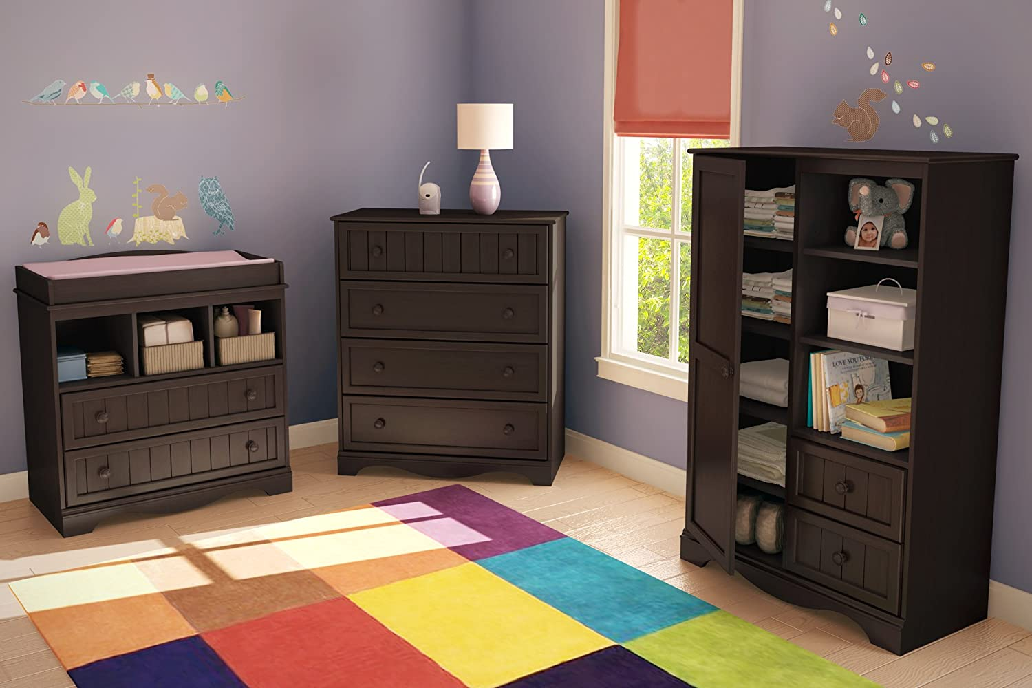 Amazon.com : South Shore Savannah Collection Door Chest, Espresso : Nursery  Dressers : Baby Good Ideas