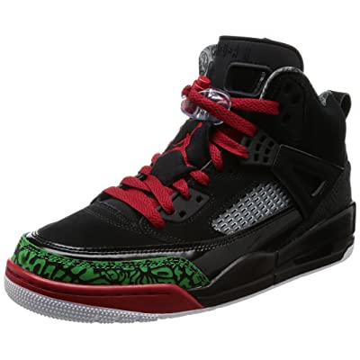 Nike Mens Air Jordan Spizike Basketball Shoes (10, Black/Classic Green-White-Varsity Red) | Fashion Sneakers