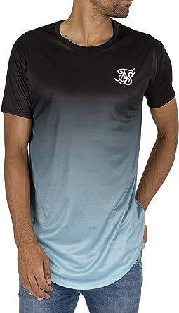 Sik Silk Hombre Camiseta de Dobladillo Curvo, Azul, XS: Amazon.es: Ropa y accesorios