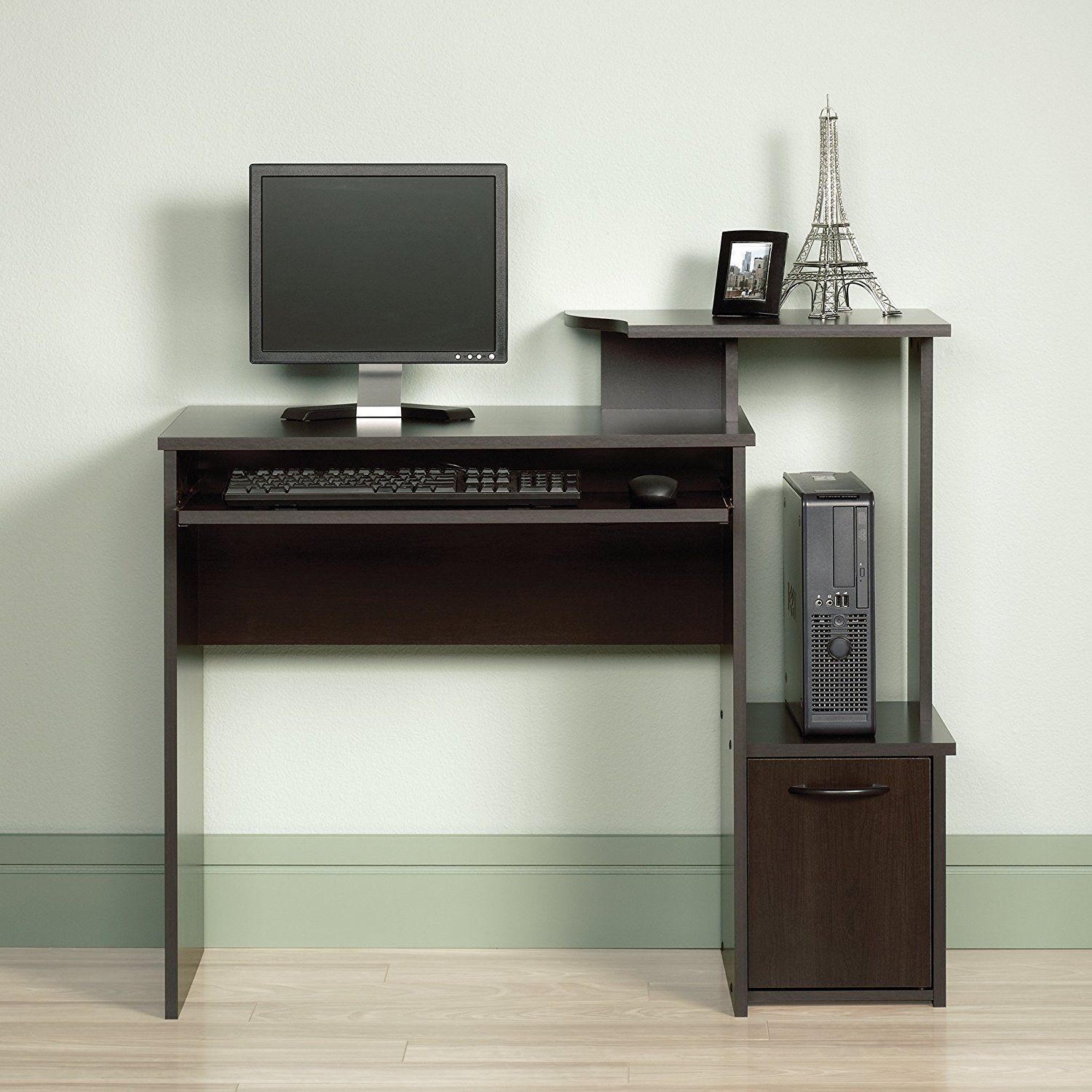 quality design 6677a 709a9 Amazon.com: Small Computer Desk Gaming Vertical PC Tower ...