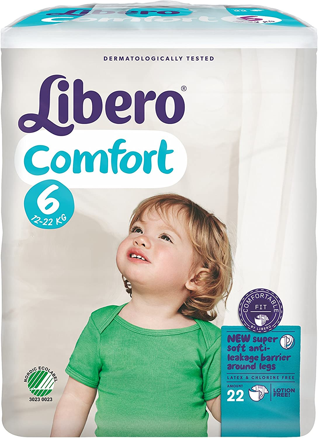 Libero Comfort 6 Baby Nappies 8 Packs of 22 13-22kg
