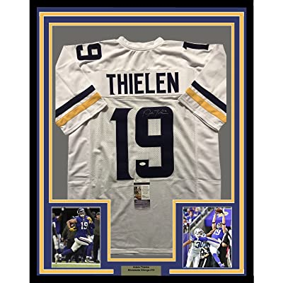 low cost 1fb77 fdfb1 Framed Autographed/Signed Adam Thielen 33x42 Minnesota ...