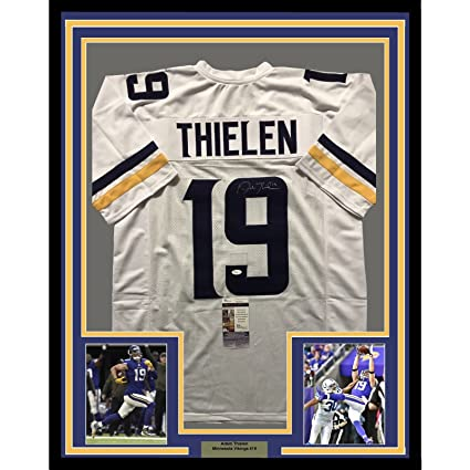 low cost 7a8d2 6be67 Framed Autographed/Signed Adam Thielen 33x42 Minnesota ...
