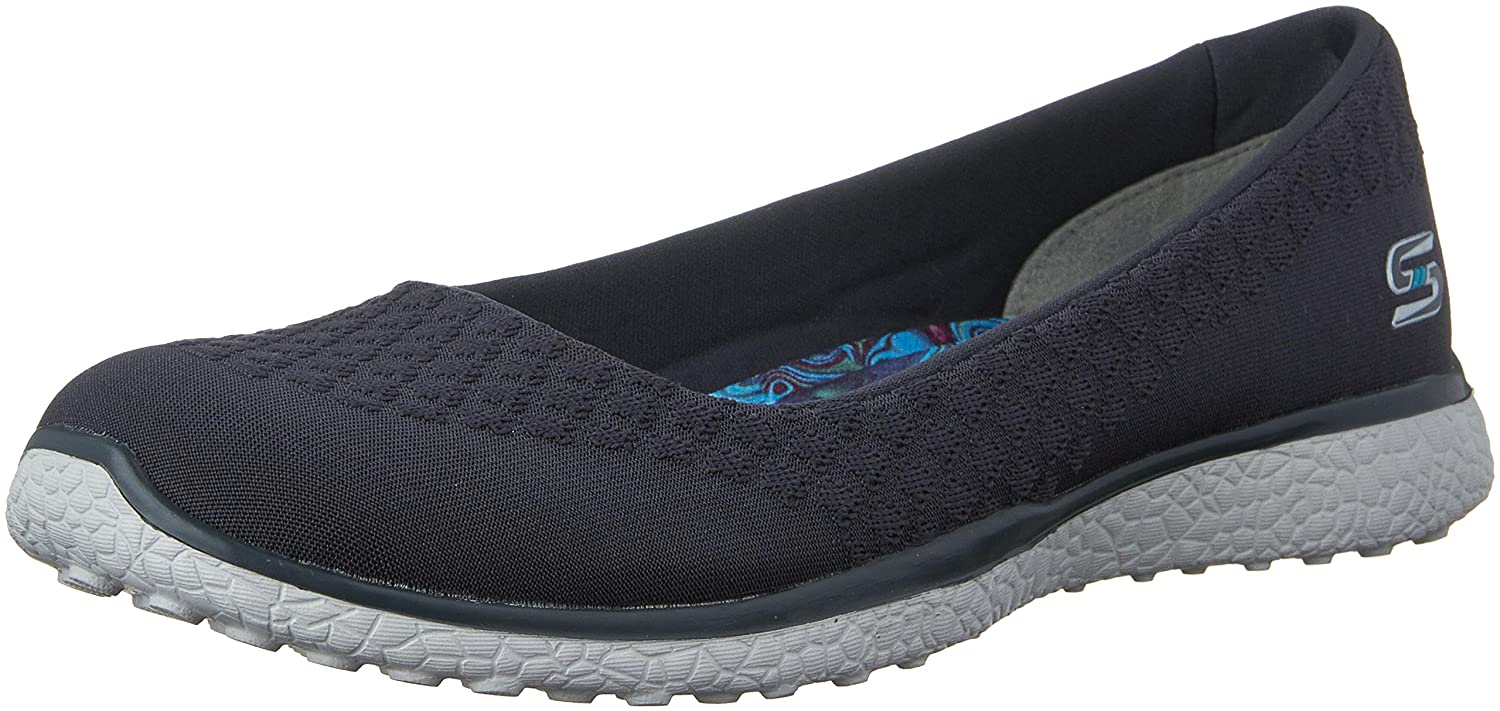 Skechers Damen Microburst-One up Sneaker  7.5 B(M) US|Charcoal