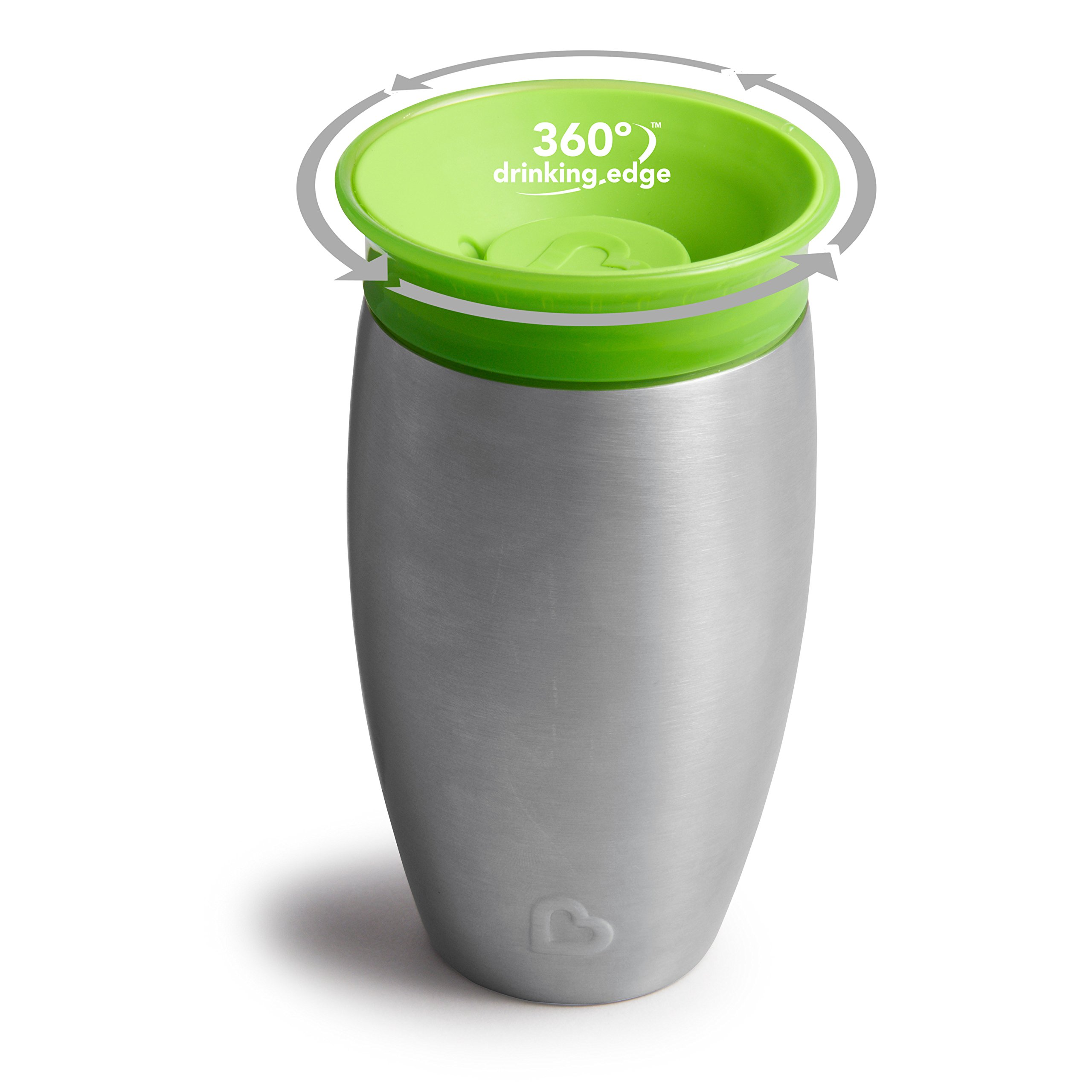 Munchkin Miracle Stainless Steel 360 Sippy Cup, Green, 10 Ounce by Munchkin (Image #3)